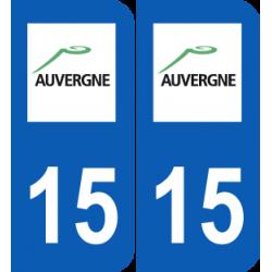 Département 15 cantal ancien logo région auvergne