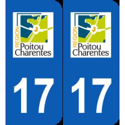 Département 17 Charente Maritime ancien logo région poitou charentes