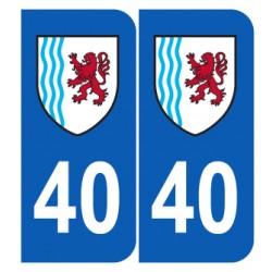 Département 40 Landes nouveau logo région nouvelle aquitaine