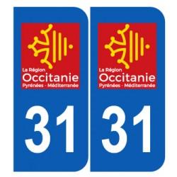 Département 31 haute Garonne nouveau logo région occitanie