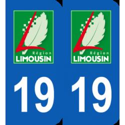 Département 19 Corrèze ancien logo région limousin