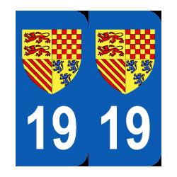 Département 19 Corrèze blason logo région limousin