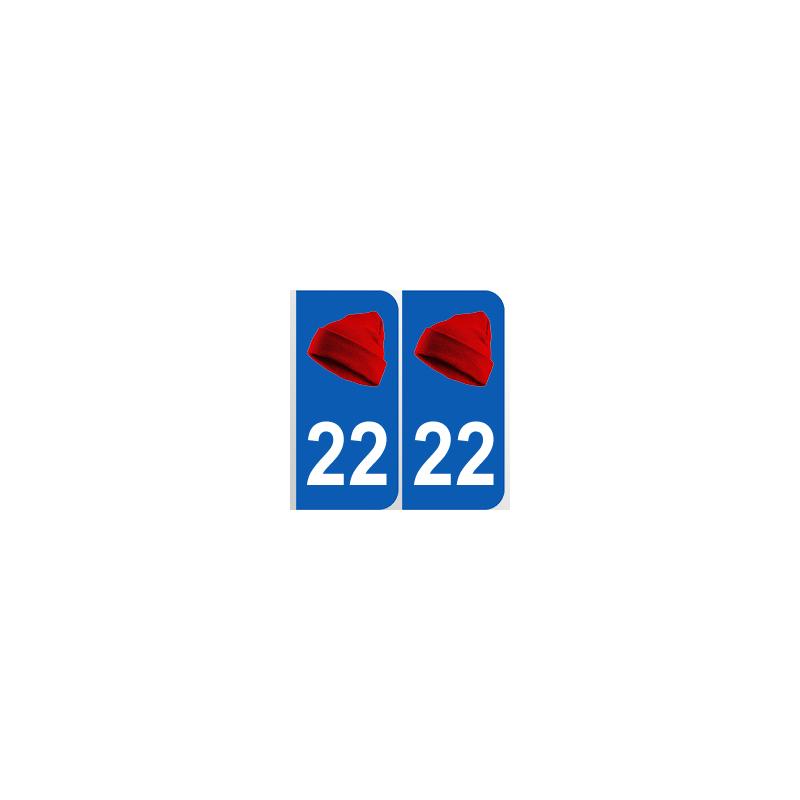 Département 22 Côtes d'Armor bonnet rouge