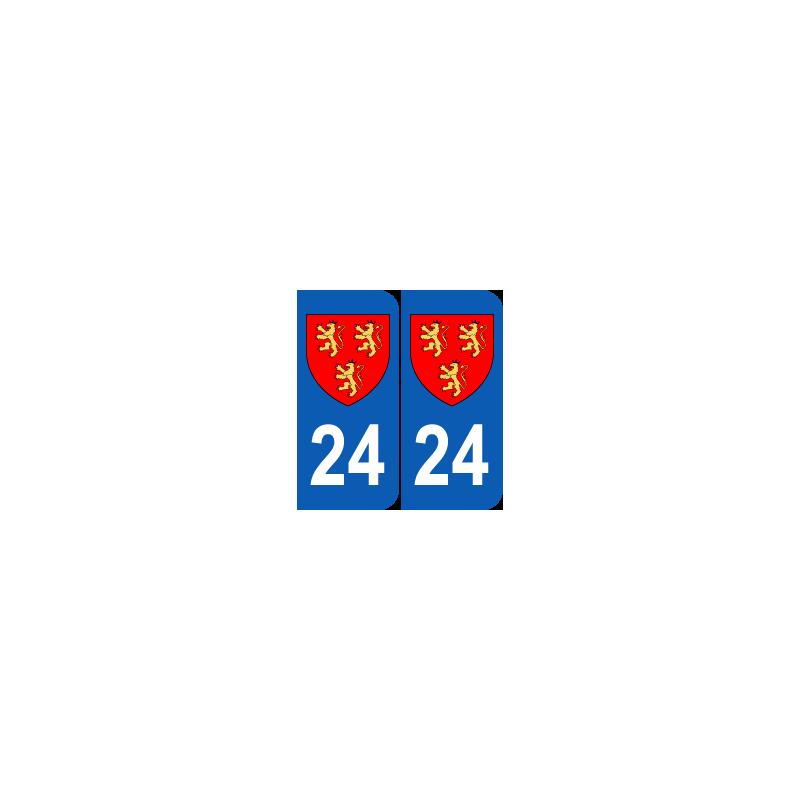 Département 24 Dordogne blason logo région aquitaine
