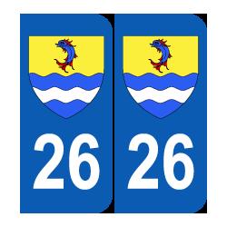 Département 26 Drôme blason logo région rhone alpes