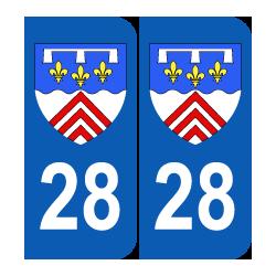 Département 28 Eure et Loir blason logo région centre