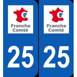 Département 25 Doubs ancien logo région franche comté