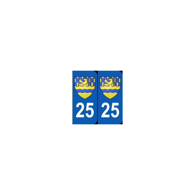 Département 25 Doubs blason logo région franche comté