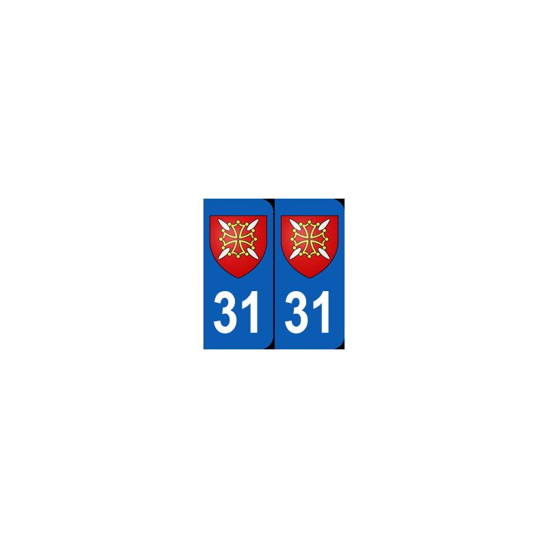 Sticker plaque blason d partement 31 haute garonne plaque for Jeu scout exterieur