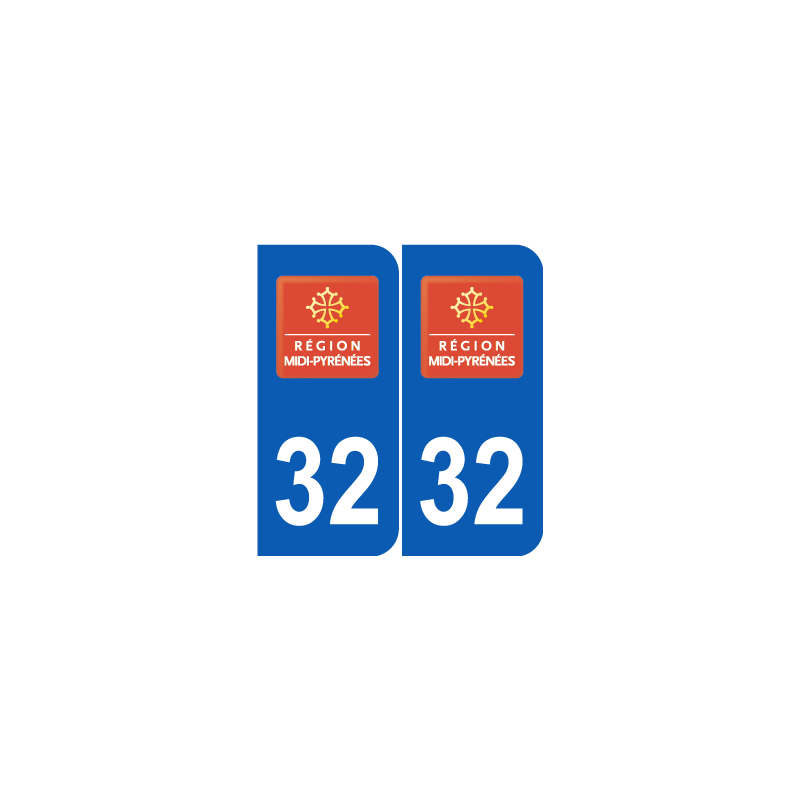 Département 32 Gers ancien logo region midi pyrennees