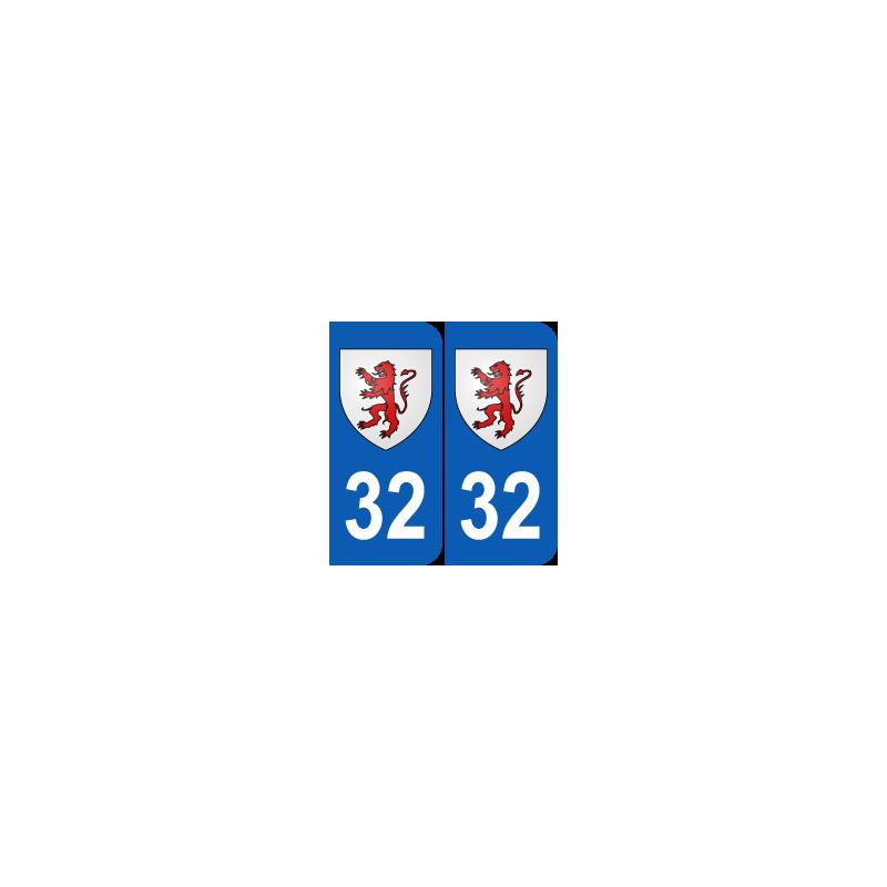 Département 32 Gers blason logo region midi pyrennees