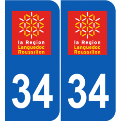 Département 34 hérault ancien logo région languedoc roussillon