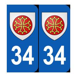 Département 34 hérault blason logo région languedoc roussillon