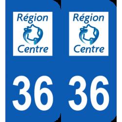 Département 36 Indre ancien logo région centre