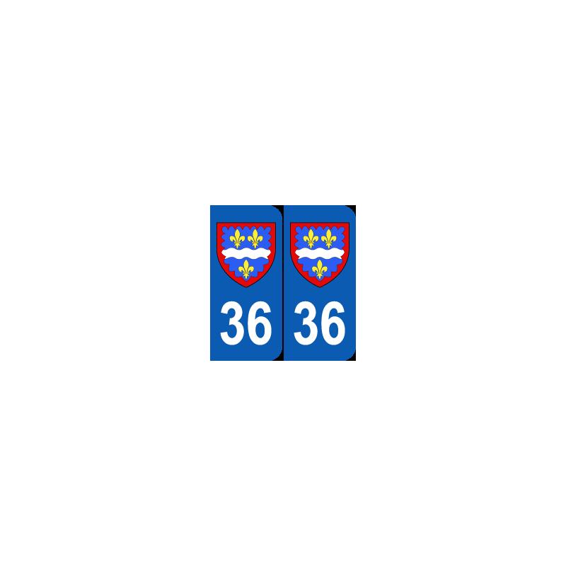 Département 36 Indre blason logo région centre