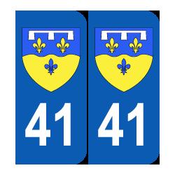 Département 41 Loir et Cher blason logo région centre