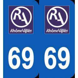 Département 69 Rhône ancien logo région rhone alpes