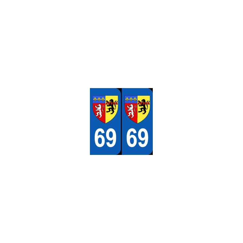 Département 69 Rhône blason logo région rhone alpes