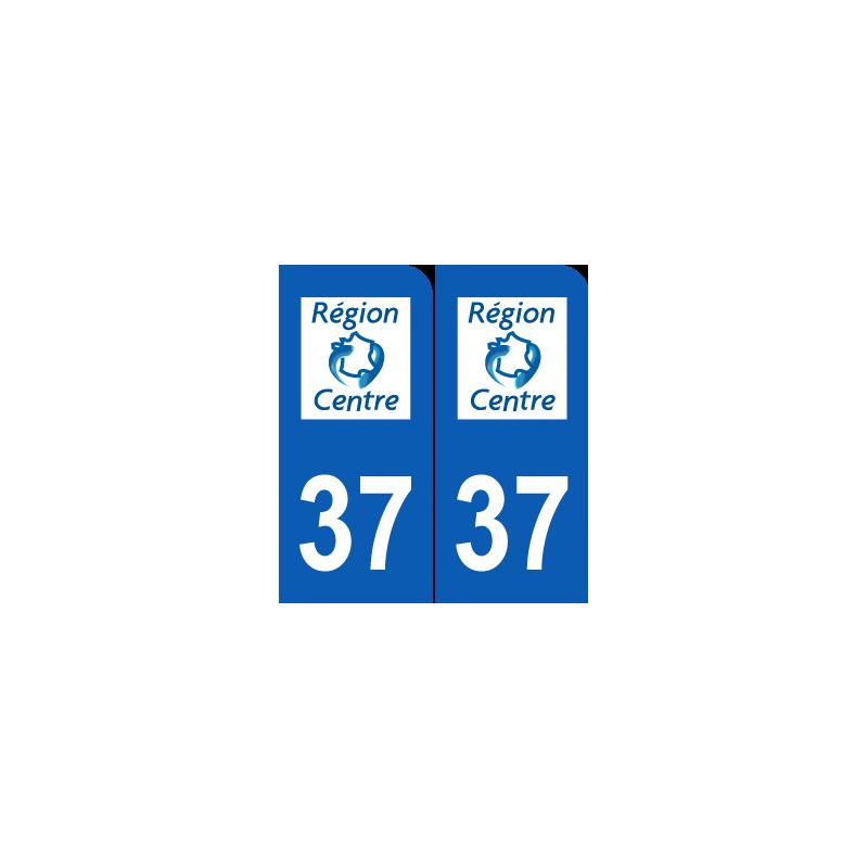 Sticker plaque d partement 37 indre et loire ancien logo for Legens materiaux anciens indre et loire