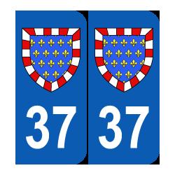 Département 37 Indre et Loire blason logo région centre
