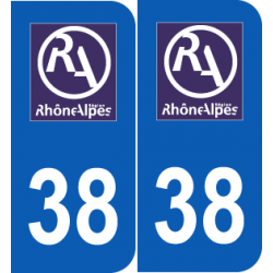 Département 38 Isère ancien logo région rhone alpes
