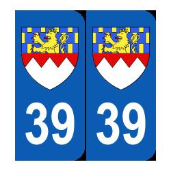 Département 39 Jura blason logo région franche comté