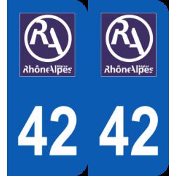 Département 42 Loire ancien logo région rhone alpes