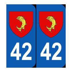 Département 42 Loire blason logo région rhone alpes