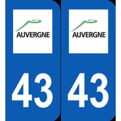 Département 43 Haute Loire ancien logo région auvergne