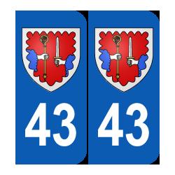 Département 43 Haute Loire blason logo région auvergne