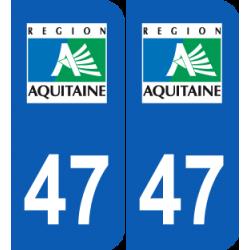 Département 47 Lot et Garonne ancien logo région aquitaine