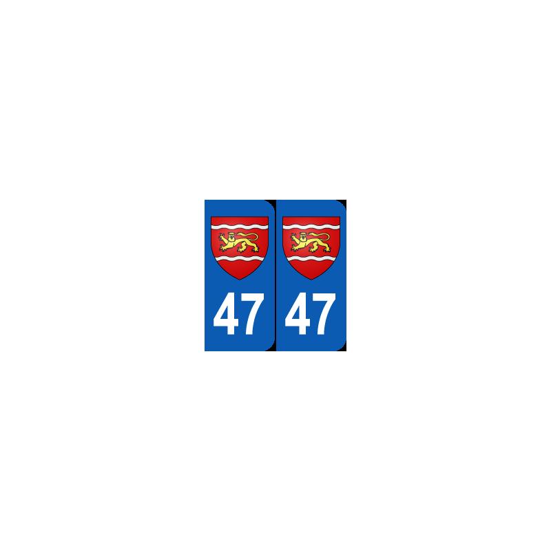 Département 47 Lot et Garonne blason logo région aquitaine