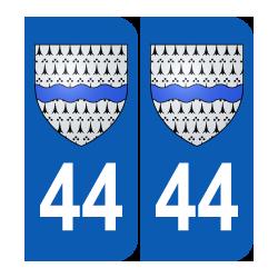 Département 44 Loire Atlantique blason région bretagne