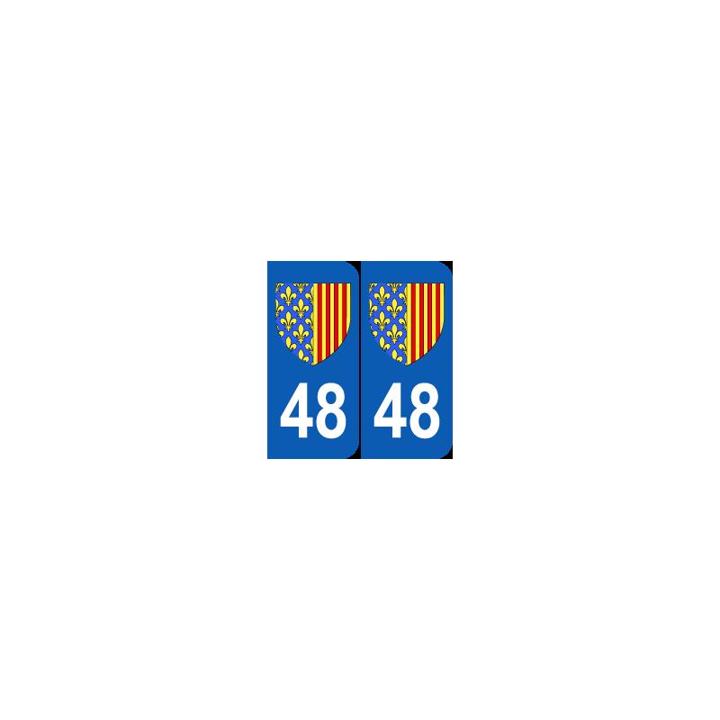 Département 48 Lozère blason logo région languedoc roussillon