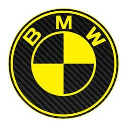 BMW imitation carbone jaune