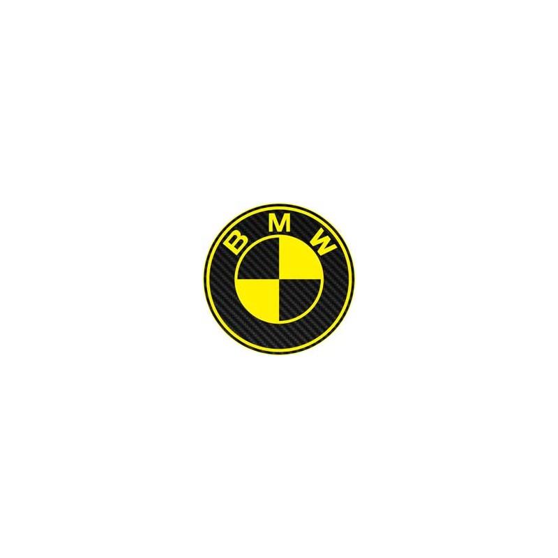 BMW imitation carbone jaune