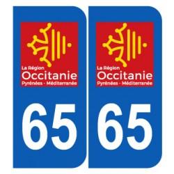 Département 65 Hautes Pyrénnées nouveau logo région occitanie