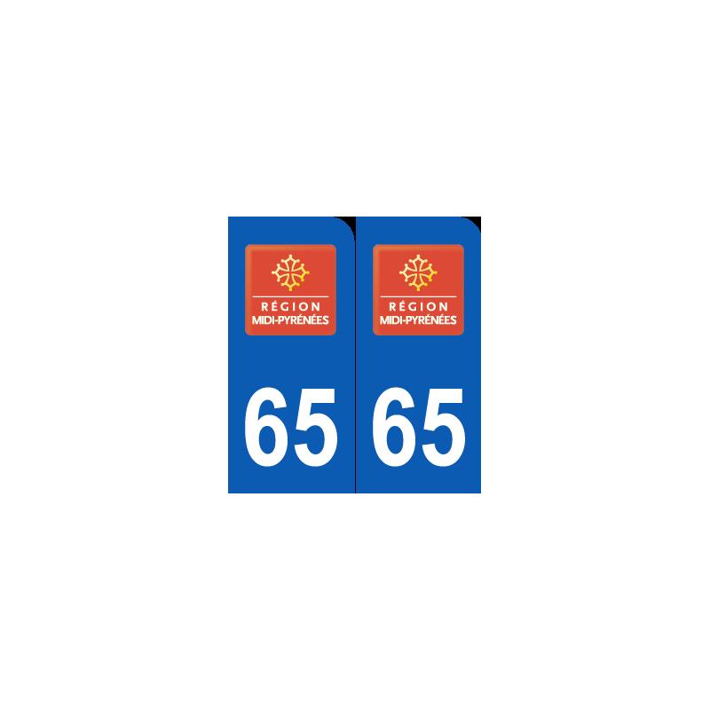 Département 65 Hautes Pyrénnées ancien logo région midi pyrénnées