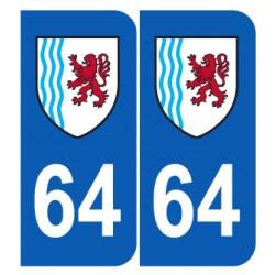 Département 64 Pyrénnées Atlantique nouveau logo région nouvelle aquitaine