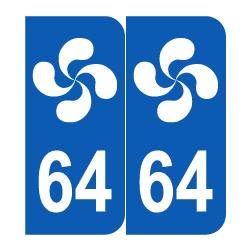 Département 64 lauburu Pays basque
