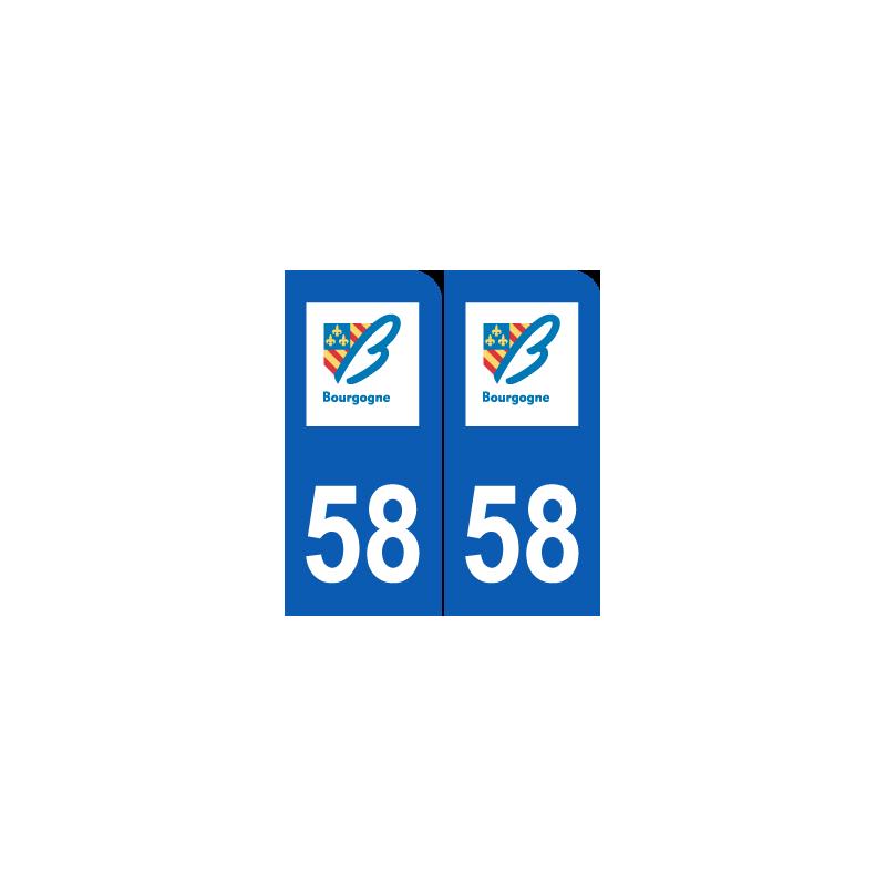 Département 58 Nièvre ancien logo région bourgogne