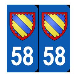 Département 58 Nièvre blason logo région bourgogne