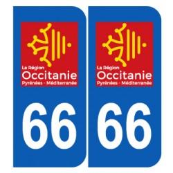 Département 66 Pyrénées Orientales nouveau logo région occitanie