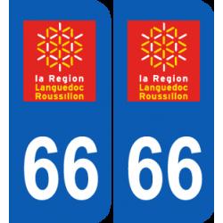 Département 66 Pyrénées Orientales ancien logo région languedoc roussillon