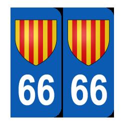 Département 66 Pyrénées Orientales blason logo région languedoc roussillon