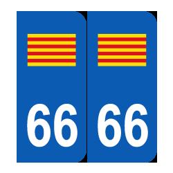 Département 66 Pyrénées Orientales drapeau Catalogne