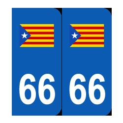 Département 66 Catalogne estelada blava