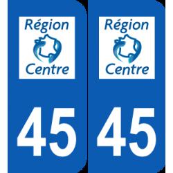 Département 45 Loiret ancien logo région centre