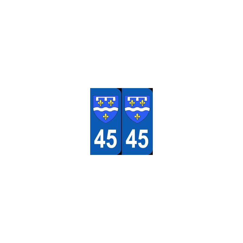 Département 45 Loiret blason logo région centre