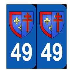 Département 49 Maine et  Loire blason région pays de la loire